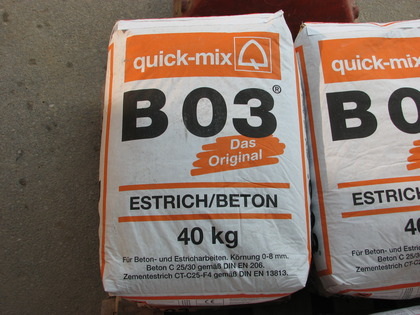 Quick mix estrich beton b03
